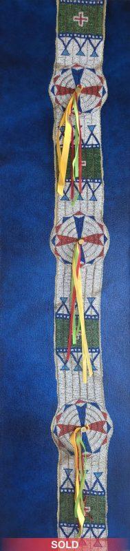 Marianne Millar Sioux Blanket Strip circa 1890 acrylic Native American western painting