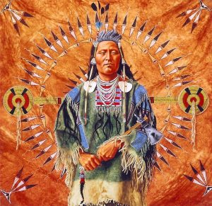 marianne millar plenty coup native american indian acrylic painting