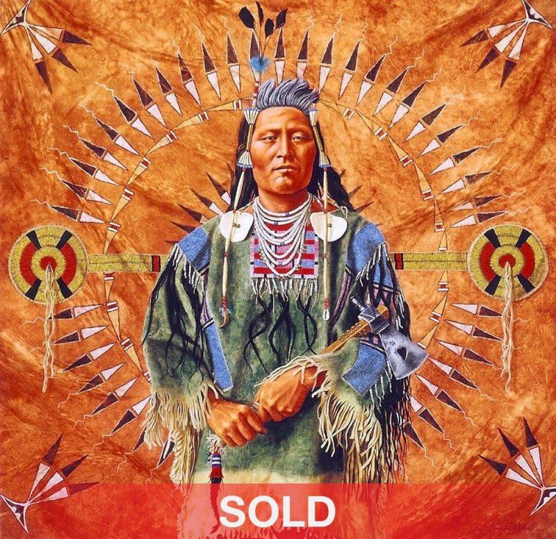 Marianne Millar Plenty Coup Native American painting portrait chief