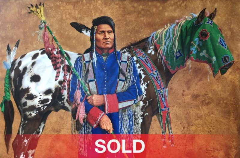 Marianne Millar Thunder Rolling Over The Mountain Native American painting horse chief