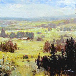 Brenda Moylan Valley Haze landscape and sky oil panting