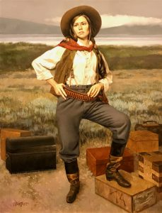 william whitaker aunt annie prix de west figurative western oil painting