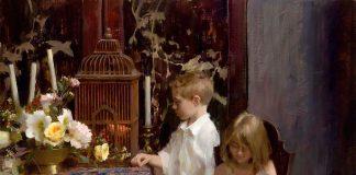 Daniel Keys Innocence boy girl portrait oil painting grand prize winner
