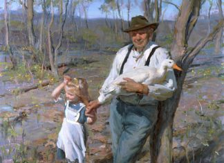 Daniel Gerhartz Winter Into Spring figurative painter