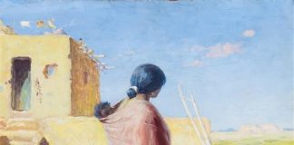 William Robinson Leigh, W.R. Leigh, Native American woman, pueblo, Native American art