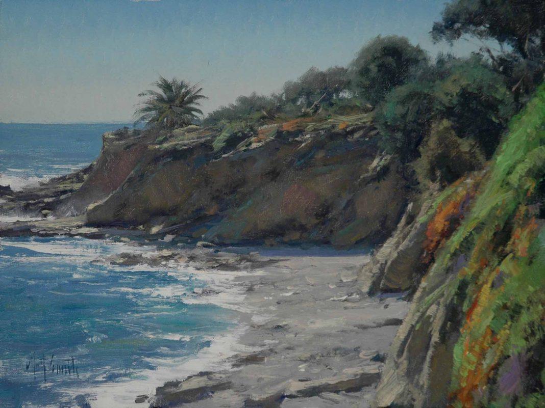 matt smith laguna beach ocean coastline california western seascape oil painting