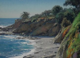 matt smith laguna beach ocean coastline california western seascape oil painting