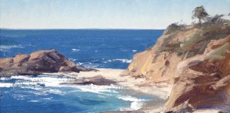 matt smith treasure beach ocean rocks seascape oil painting