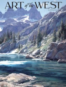 Matt Smith Art of the West magazine cover mountain landscape painting