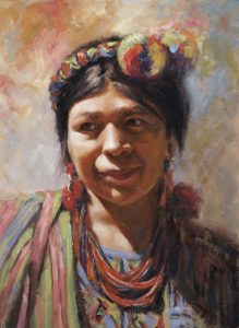 Irina Milton Girl With The Necklace Native American woman painting women artist