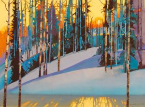 Stephen Quiller colorful snowy landscape silver medal winner