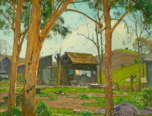 William Wendt Wash Day at Wendt's Cabin in Trabuco Canyon oil painting