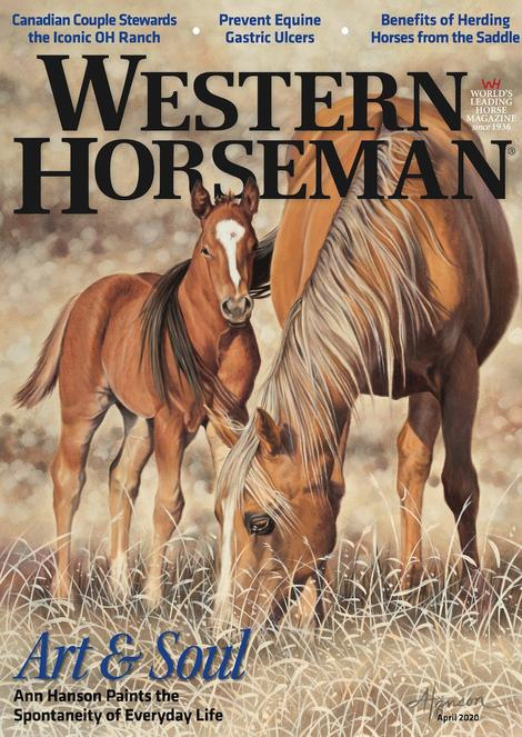 Ann Hanson Western Horseman magazine cover image horse baby colt western oil painting
