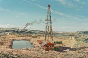 Arthur Weaver At the Drill Site oil derrick oil painting Texas Art