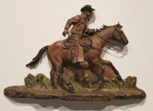 Bill nebeker living' the life bronze cowboy sculpture cowboy