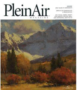 Dan Young Plein Air magazine mountain snow trees Colorado oil painting landscape