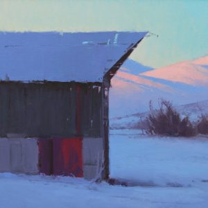 david dibble five more minutes slow landscape building red door oil painting