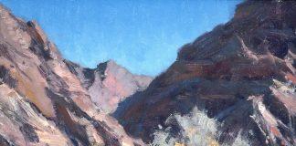 matt smith the mojave desert wash landscape oil painting cacti