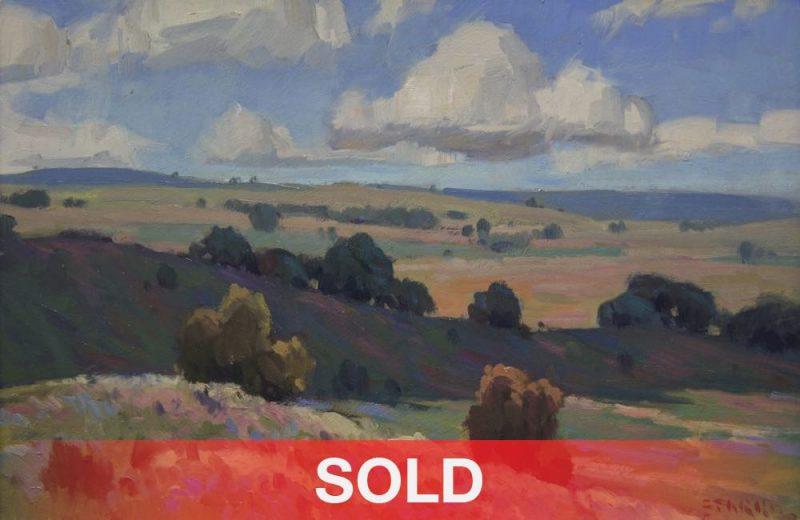 Phil Starke Oklahoma Autumn landscape western oil painting