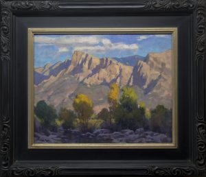 Phil Starke Pusch Ridge western landscape oil painting framed