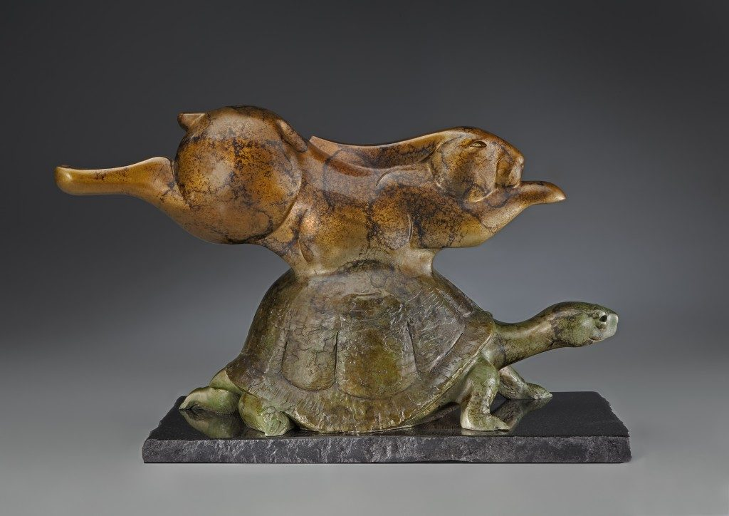 Tim Cherry bronze tortoise and hare birthday