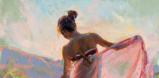 daniel gerhartz before the sun sets figurative oil painting figure woman