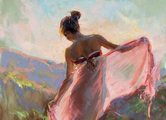 daniel gerhartz before the sun sets figurative oil painting figure woman