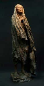 john coleman the healer native american indian western bronze sculpture