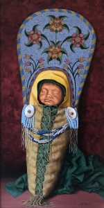 marianne millar child of the salish baby native american indian acrylic painting