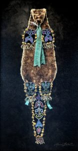 marianne millar midewiwin on otterskin bag native american indian otter skin bag beaded acrylic painting