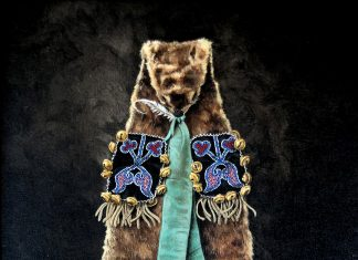 marianne millar midewiwin on otterskin bag native american indian still life acrylic painting