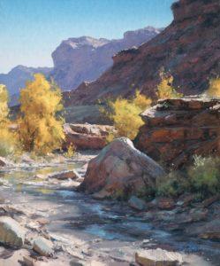 matt smith autumn along seep wash desert wash landscape oil painting prix de west
