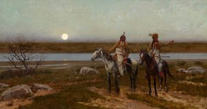 henry farny pastures new native american indian horses horseback western oil painting