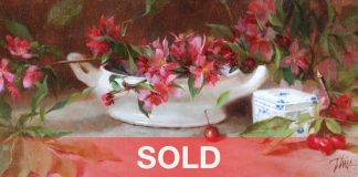 Timothy Thies Apple Blossoms sill life oil painting china
