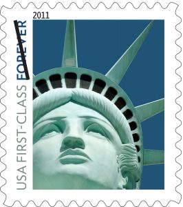united states forever stamp robert davidson sculpture lady liberty