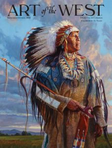 art of the west magazine martin grelle native american proud cloudy sky landscape warrior leader