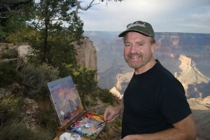 Curt Walters artist Grand Canyon painting on location en plein air