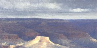 Curt Walters A Moment Of Sun Grand Canyon landscape oil painting