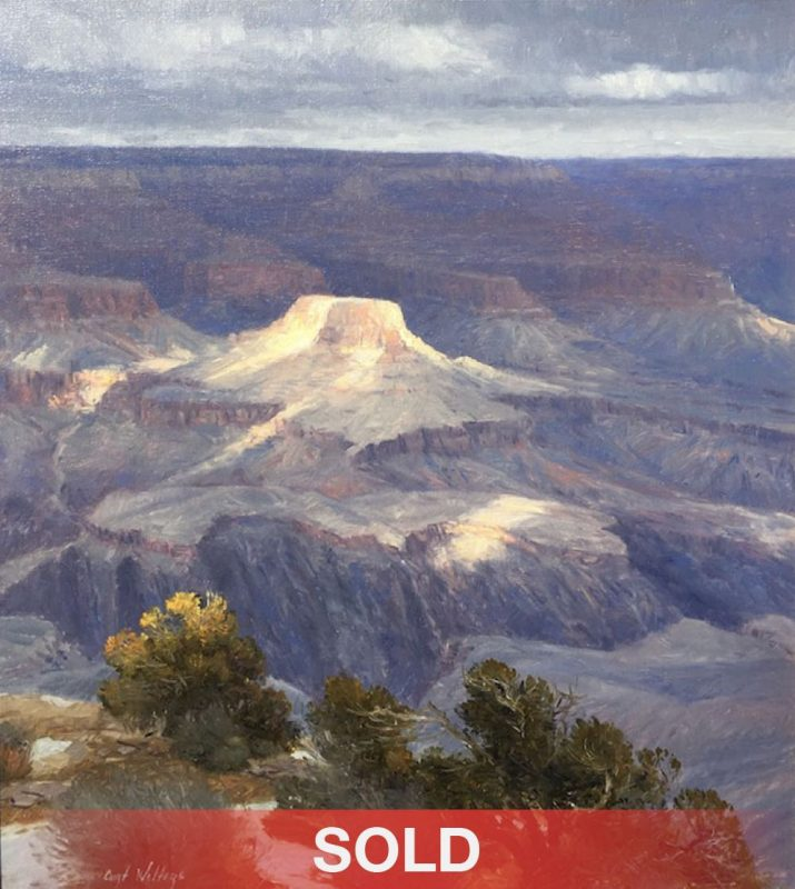 Curt Walters A Moment of Sun Grand Canyon western landscape oil painting