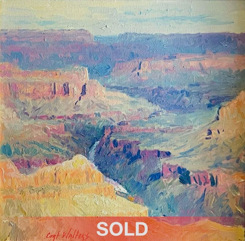 Curt Walters Morning Vignette Grand Canyon Arizona Natural Wonder landscape oil painting sold