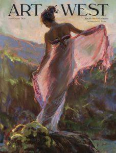 daniel gerhartz figure figurative oil painting impressionism woman female art of the west magazine cover