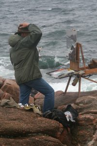 daniel gerhartz painting on location ocean artist easel oil painting