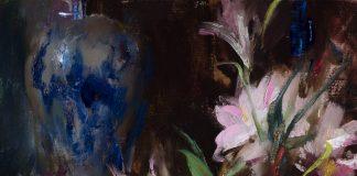 Daniel Gerhartz A Gift Of Time still life oil painting flowers porcelain vase pitcher