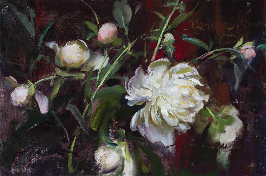 Daniel Gerhartz To Bring Joy peony peonies flower still life oil painting