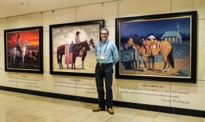 jim connelly artist western oil paintings exhibition colors of freedom