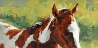 Jim Connelly Goodness paint horse western oil painting