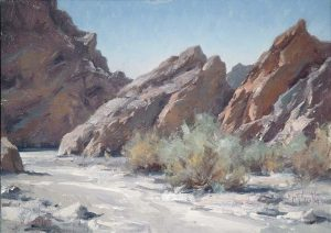 matt smith painted canyon desert mountains wash western oil painting