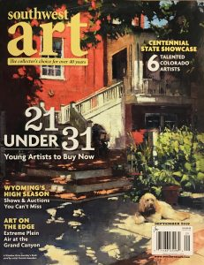 southwest art magazine september 2018 cover patrick saunders