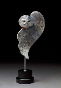 tim cherry arctic ghost snowy owl wildlife bronze sculpture