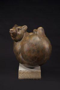 tim cherry bear ball wildlife bronze sculpture